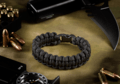 Paracord Bracelet Compact Black (Invader Gear)