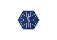 Paramedic-Hexagon-Rubber-Patch-Blue-JTG