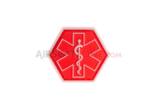 Paramedic Hexagon Rubber Patch Red (JTG)