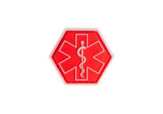 Paramedic-Hexagon-Rubber-Patch-Red-JTG