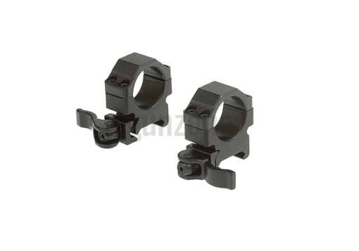 QD 25.4mm CNC Mount Rings Low Black (Leapers)