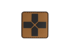 Red-Cross-Rubber-Patch-40mm-Coyote-JTG