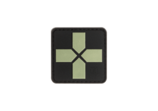 Red-Cross-Rubber-Patch-40mm-Glow-in-the-Dark-JTG