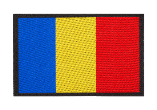 Romania Flag Patch Color