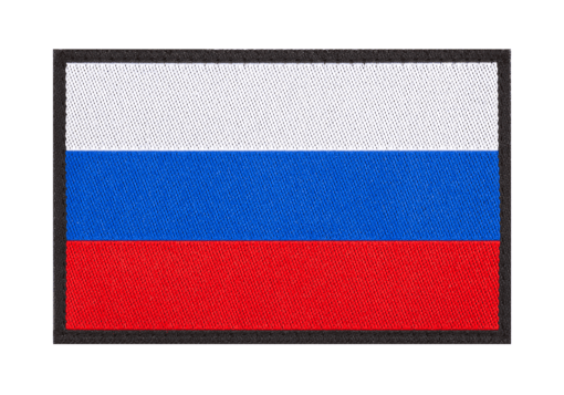 Russia Flag Patch Color