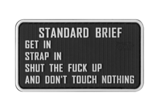 Standardbriefing-Rubber-Patch-Color-JTG