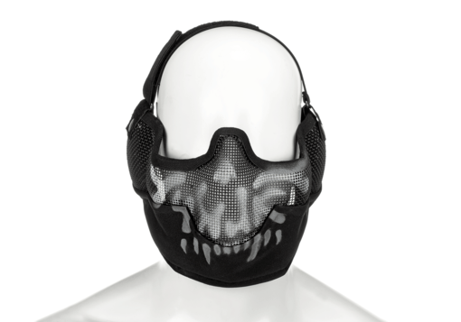 Steel Face Mask Death Head Black