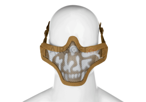 Steel Half Face Mask Death Head Tan (Invader Gear)