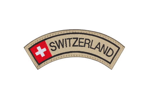 Switzerland Small Tab Patch Color