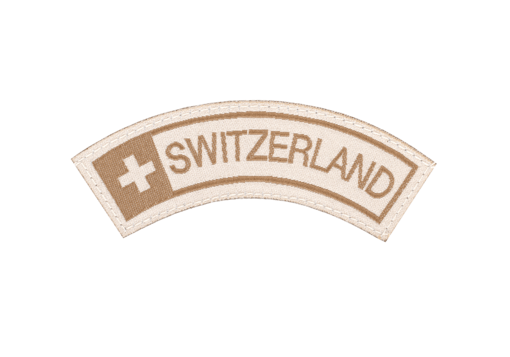 Switzerland Small Tab Patch Desert