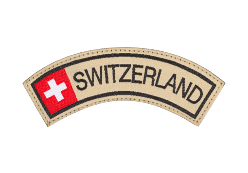 Switzerland Tab Patch Color
