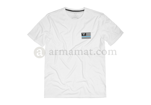 Thin Blue Line Tee White (Oakley) XL