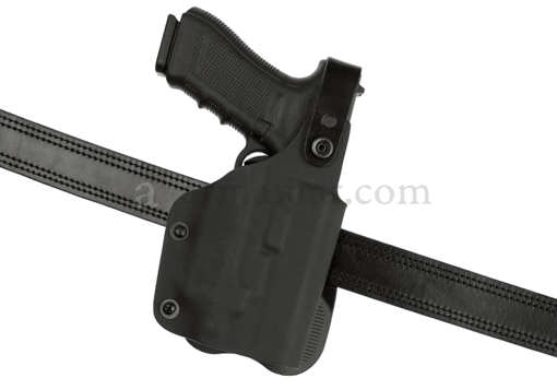Thumb-Break Kydex Holster für Glock 17 GTL Paddle Black (Frontline)