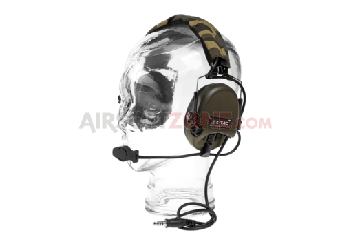 Tier 1 Headset Military Standard Plug Foliage Green (Z-Tactical)