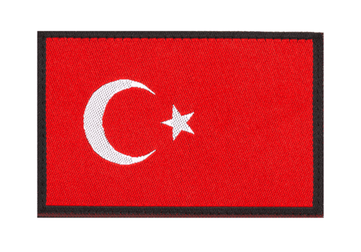 Turkey Flag Patch Color
