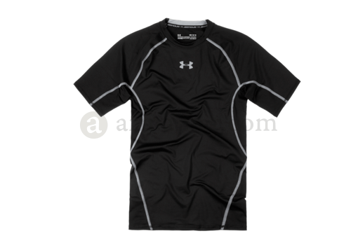 UA HeatGear Compression Tee Black (Under Armour) XL
