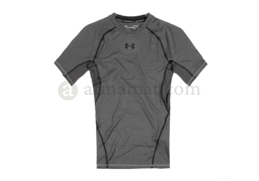 UA HeatGear Compression Tee Carbon Heather (Under Armour) L