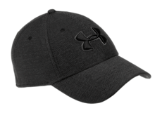 UA-Heathered-Blitzing-3.0-Cap-Black-Under-Armour-M-L