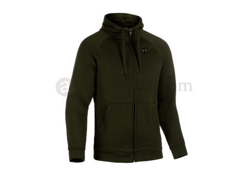UA Rival Fleece Zip Hoodie Artillery Green (Under Armour) S