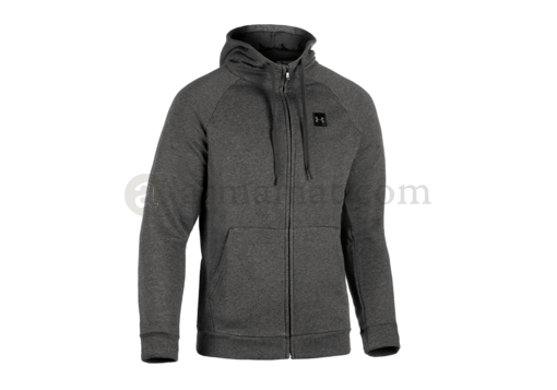 UA Rival Fleece Zip Hoodie Charcoal Light Heather (Under Armour) XXL
