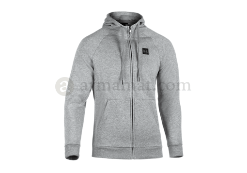 UA Rival Fleece Zip Hoodie Steel Light Heather (Under Armour) XL