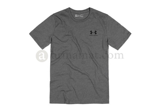 UA Sportstyle Left Chest Tee Charcoal Medium Heather (Under Armour) XXL