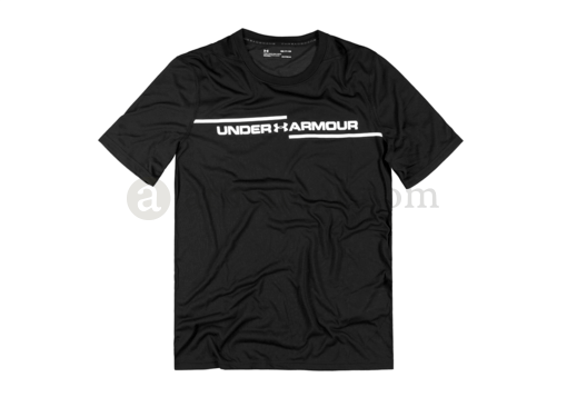 UA Threadborne Cross Chest Tee Black (Under Armour) XL