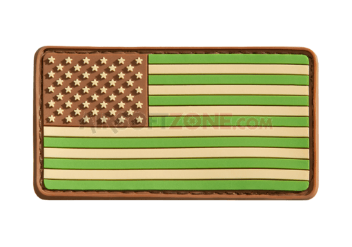 US Flag Rubber Patch Multicam (JTG)