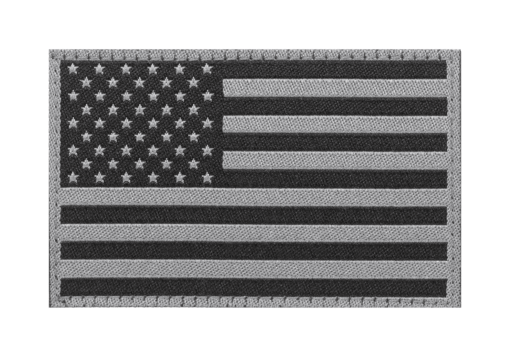 USA Flag Patch Black
