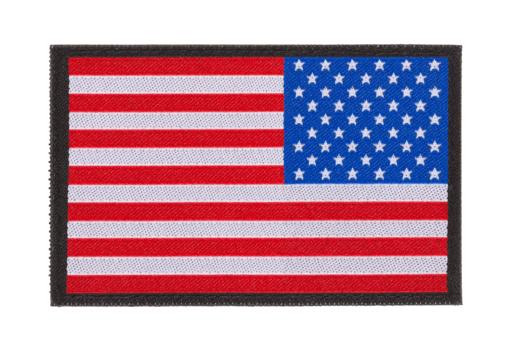 USA Reversed Flag Patch Color