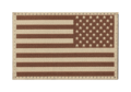 USA Reversed Flag Patch Desert