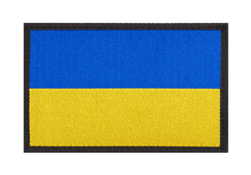 Ukraine Flag Patch Color
