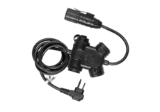 ZSLX-Clarus-PTT-Motorola-2-Pin-Connector-Black-Z-Tactical